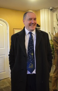 Church warden's Christmas tie